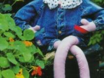 Летние садовые куклы своими руками. «Девочка на тачке» и «Девушка и пень»