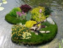 Обустройство пруда маленьким островком