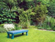 Оформление сада из зеленых комнат