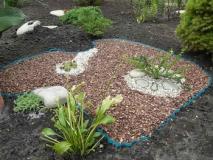 Применение гравия в саду, варианты отсыпок