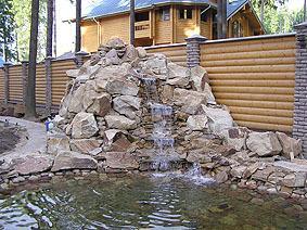 Как сделать вертикальные каскады и горный поток в саду