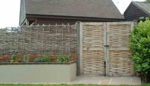 Плетеный забор, картинки
