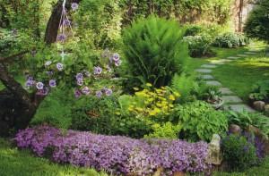 Примеры миксбордеров в саду. Фото