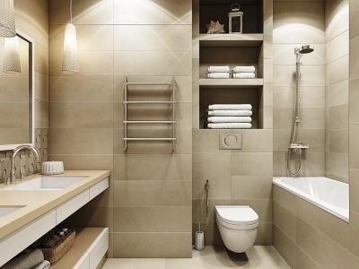 Интерьер ванной комнаты - 3 варианта оформления