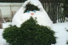 Зимние садовые скульптуры – украшение зимнего сада. Фото