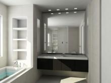 Ванную расширят зеркала, а шкафчики создадут удобство и уют